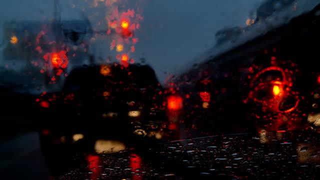 sound of car wiper blades - walk don't walk signal stock videos and b-roll footage