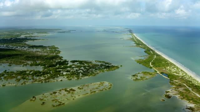 sound on coast of yucatan peninsula - yucatan peninsula stock videos and b-roll footage