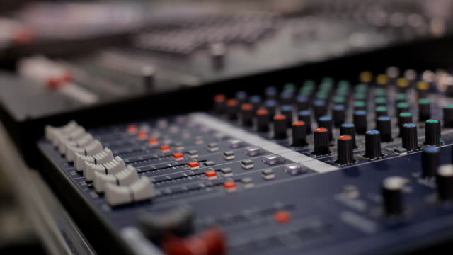 sound recording desk - radio studio stock videos & royalty-free footage