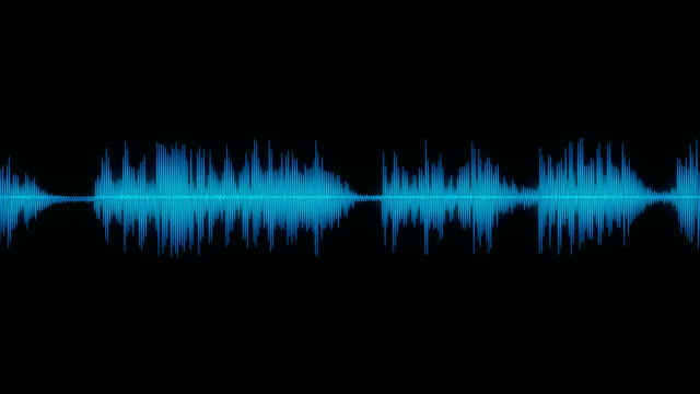 vídeos de stock e filmes b-roll de sound wave audio waveform / spectrum - acenar