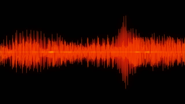 sound wave audio waveform / spectrum - ascoltare video stock e b–roll
