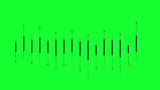 vidéos et rushes de égaliseur d'onde sonore sur fond vert. - mixage du son