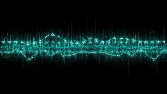 vidéos et rushes de sound waves audio signal - synthpop