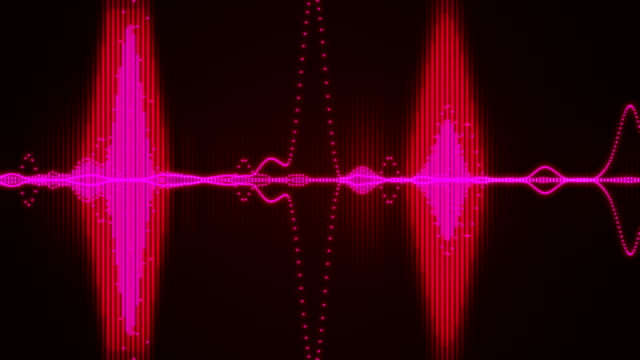 sound waves audio - audio equipment stock videos & royalty-free footage