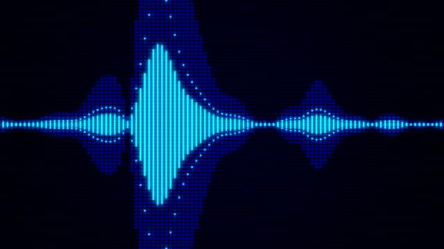 sound waves audio - audio disponibile sulla versione digitale video stock e b–roll