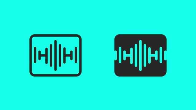soundtrack icons - vector animate - sound recording equipment stock videos & royalty-free footage