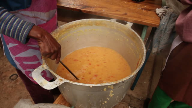 soup distribution - haiti stock videos & royalty-free footage