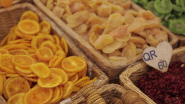 Souq Waqif, Colourful Dried Fruit, Doha, Qatar, Middle East
