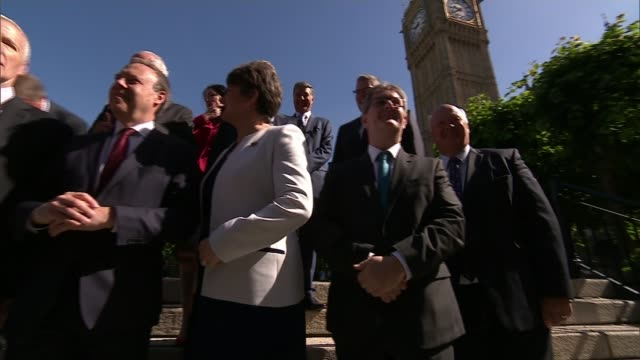 Source of DUP controversial donation to remain secret LIB / London Westminster Houses of Parliament EXT Arlene Foster MLA Nigel Dodds MP and...