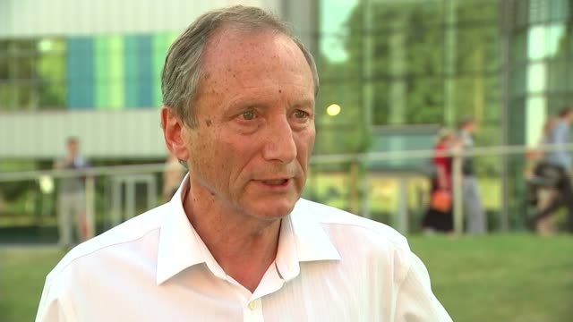 stockvideo's en b-roll-footage met bodies of british victims repatriated / further details on gunman; england: london: ext professor sir keith porter interview sot - repatriëring