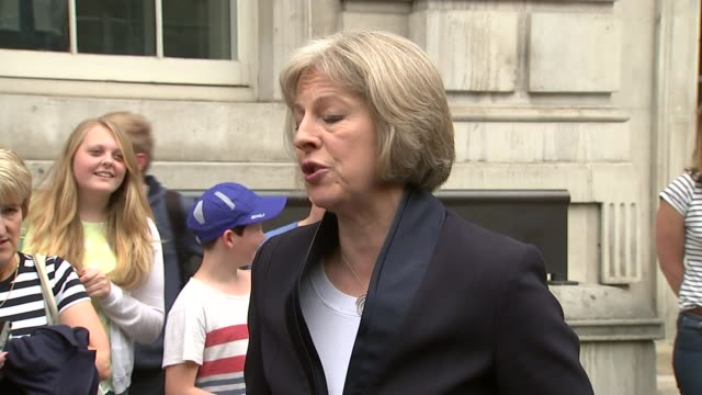 british victims named reactions and condolences theresa may mp speaking to press sot we've also dispatched a small team to tunisia to look at... - itv weekend evening news点の映像素材/bロール