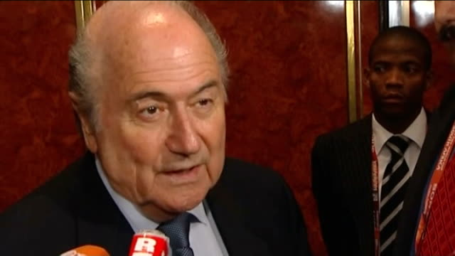 legacy of the tournament johannesburg int sepp blatter interview sot world has taken account that south africa exists / africans will say 'we did it'... - fifa world cup 2010 stock videos & royalty-free footage