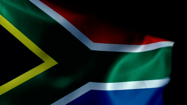 south africa flag flapping - città del capo video stock e b–roll