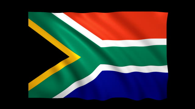 south africa flag loopable alpha included - stock video - satin stock videos & royalty-free footage