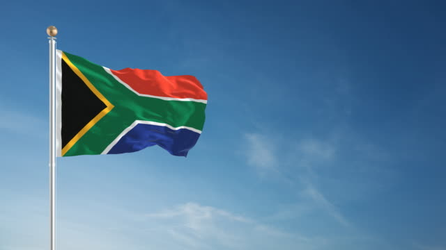 4K South Africa Flag - Loopable