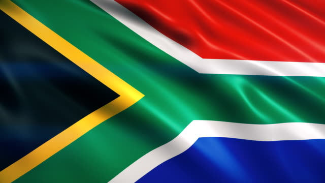 south africa flag - south africa stock videos & royalty-free footage