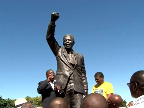 south africa heaped praise on nelson mandela thursday as the nation celebrated the 20th anniversary of his release from prison an earthshaking event... - releasing stock videos & royalty-free footage
