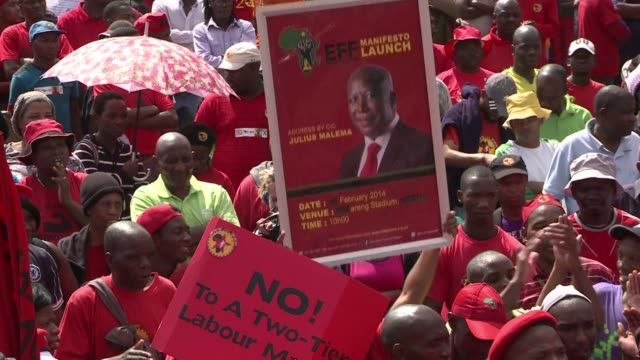 stockvideo's en b-roll-footage met south africa s 340000 strong numsa union marched wednesday to protest a new labour law it says will increase unemployment and poverty amid a tense... - gauteng provincie