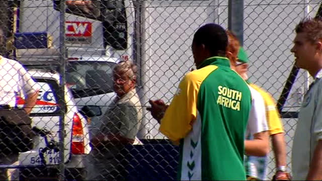 South Africa squad training Various of South Africa cricket team training