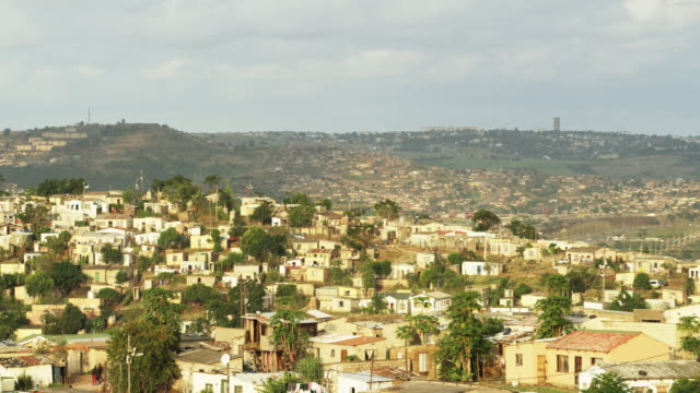 South African city and landscape, wide