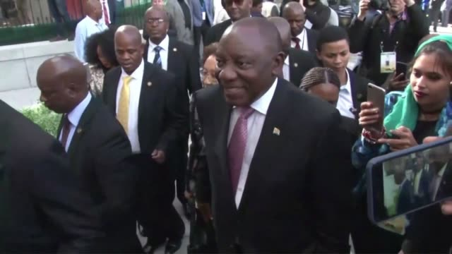 ZAF: Ramaphosa deputies arrive at new parliament in Cape Town