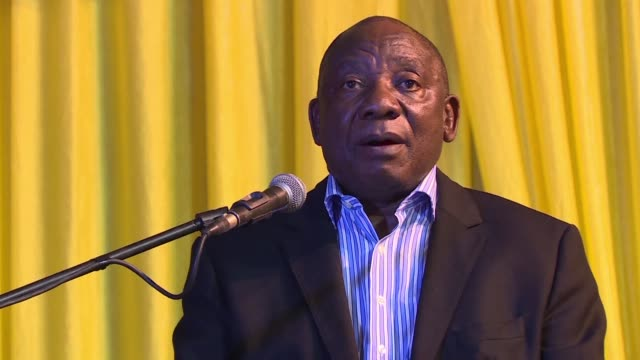 south african deputy president cyril ramaphosa told supporters in soweto that poor leadership within the african national congress has cost it dearly... - soweto stock videos and b-roll footage