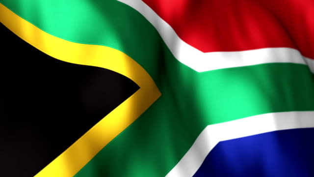 south african flag high detail  - looping - apartheid stock videos and b-roll footage