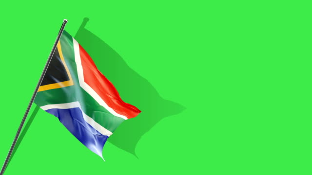 south african flag rising