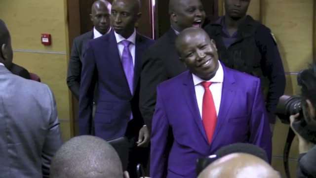 south african judge on tuesday threw out a corruption case against firebrand politician julius malema after three years of delays, giving a major... - critic stock videos & royalty-free footage