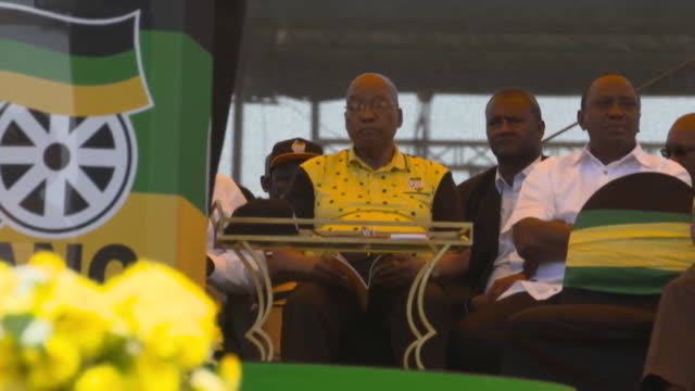 South African President Jacob Zuma in attendance at the ANC's rally in East London South Africa