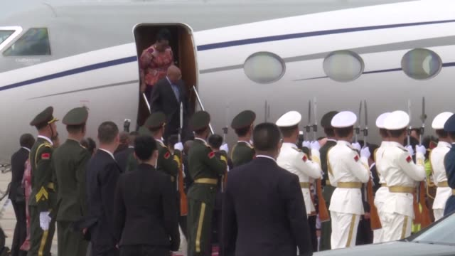 South African President Jacob Zuma lands in the southern Chinese city of Xiamen for BRICS summit