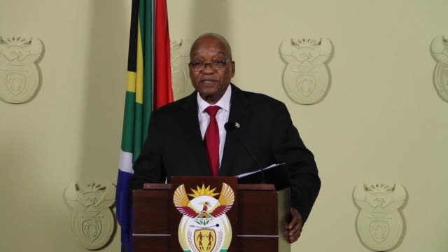 south african president jacob zuma resigned on wednesday as the ruling anc party finally turned against him after nine years of corruption scandals... - quitting a job stock videos & royalty-free footage