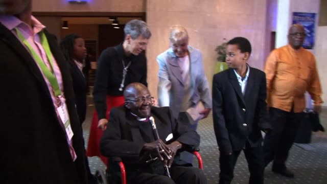 south african retired anglican archbishop and anti apartheid icon desmond tutu celebrated his 85th birthday on friday saying he would like to be... - anglican stock videos & royalty-free footage