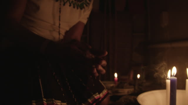 south african witch doctor performs ritual in slow motion - witch stock videos & royalty-free footage