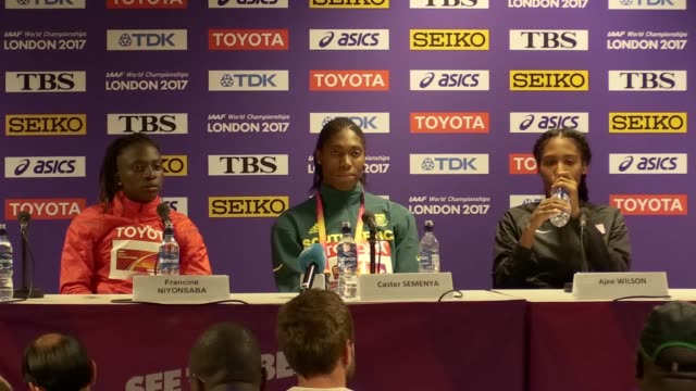 south africa's caster semenya wins the women's 800m final during day ten of the 2017 iaaf world championships at the london stadium - caster semenya stock videos & royalty-free footage