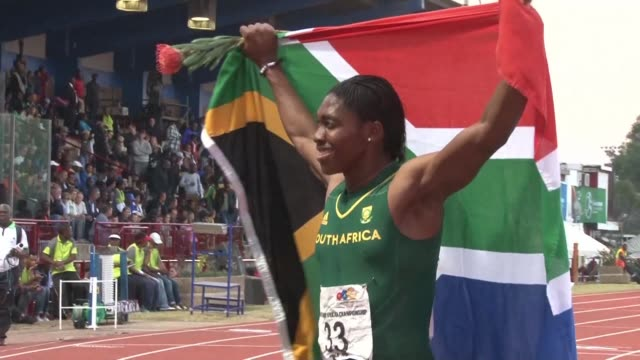 south africa's double olympic 800m champion caster semenya on tuesday accused world athletics governing body the iaaf of treating her like human... - caster semenya stock videos & royalty-free footage