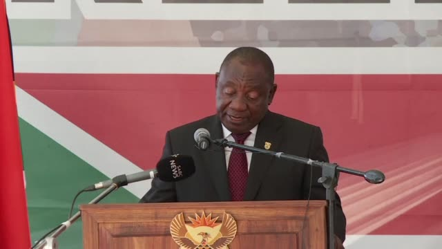 south africa's president cyril ramaphosa delivers a speech marking the 25th anniversary of advent of democracy in the country - advent stock videos & royalty-free footage