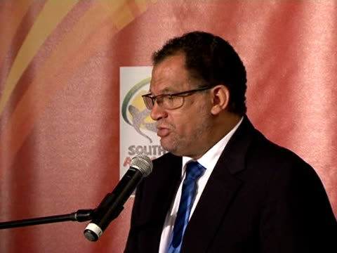 south africa's top world cup organiser danny jordaan said there was no reason to fear attacks similar the one that hit african cup of nations... - fußballweltmeisterschaft 2010 stock-videos und b-roll-filmmaterial