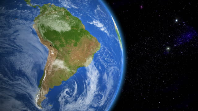 stockvideo's en b-roll-footage met south america from space - latijns amerika