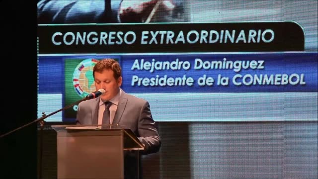south american soccer confederation conmebol tuesday chose paraguay football association chief alejandro dominguez as its new president as three... - soccer association stock videos & royalty-free footage