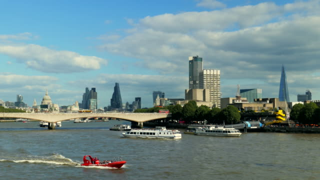 south bank and city of london, uk - river thames stock videos & royalty-free footage