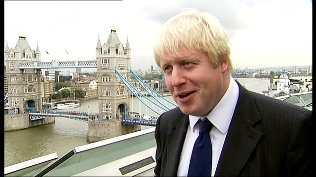 boris johnson interview sot - utterly crazy not to deliver wembley arena venue, send the shooting to barking and save taxpayers about â£30 million... - wembley arena stock videos & royalty-free footage
