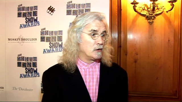 interviews billy connolly interview sot on presenting an award / the south bank show coming to an end / favourite moments from the south bank show /... - reality tv stock videos and b-roll footage