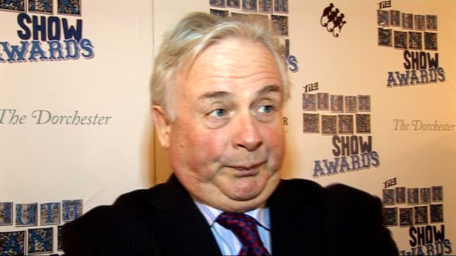 interviews england london the dorchester int christopher biggins interview sot on the south bank show coming to an end / melvyn bragg / the awards... - billy connolly video stock e b–roll