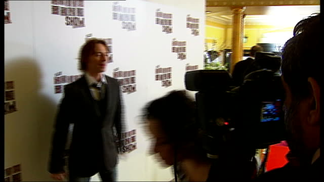 south bank show awards: arrivals; england: london: the dorchester hotel: int robert carlyle and wife anastasia shirley arriving for awards ceremony... - robert carlyle stock videos & royalty-free footage