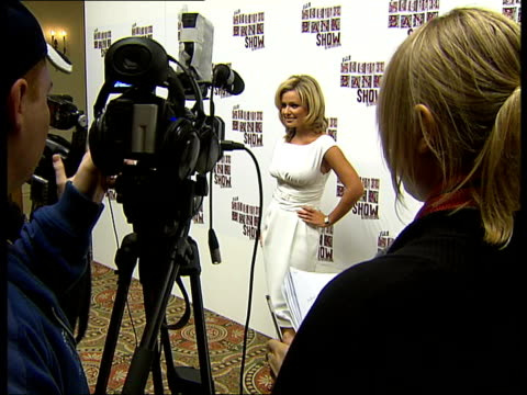 backstage interviews and photocalls katherine jenkins posing for photocall - sleeveless dress stock videos and b-roll footage