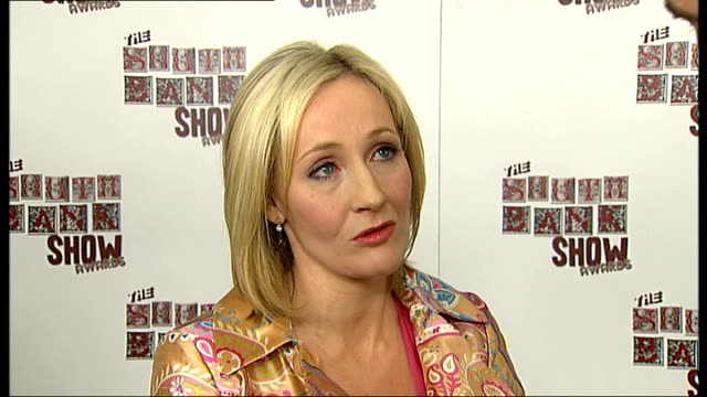 south bank show awards j k rowling interview sot shane meadows posing with award with cast of film 'this is england' rob brydon interview sot press... - j.k. rowling stock videos and b-roll footage