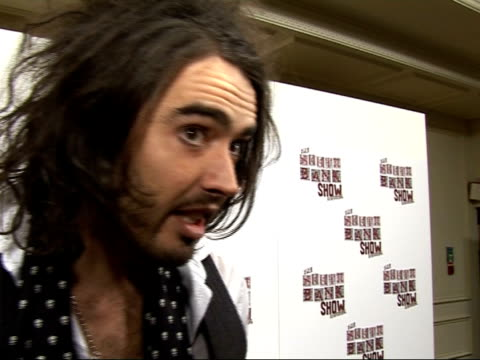 photocall and interviews russell brand interview sot on south bank awards / i didn't know quite what to expect from the south bank awards / but it... - participant stock videos and b-roll footage