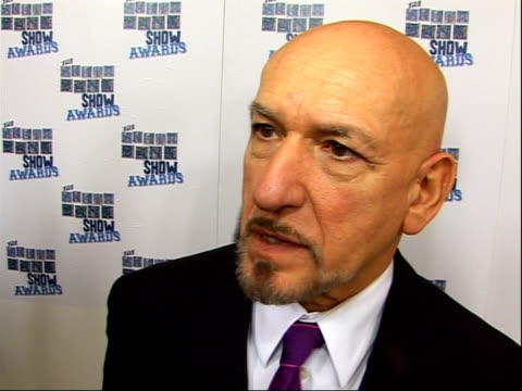 photocalls and interviews ben kingsley interview sot on giving not picking up the award was nervous on the south bank show awards having broad... - ben kingsley stock videos & royalty-free footage