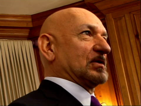 photocalls and interviews GVs of Sir Ben Kingsley conducting interview